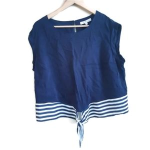 Cleo | navy and white sailor top